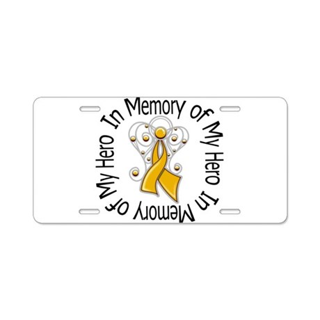 In Memory Appendix Cancer Aluminum License Plate