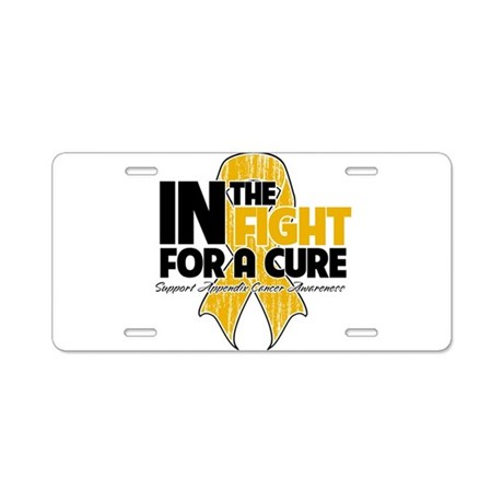 In The Fight Appendix Cancer Aluminum License Plat