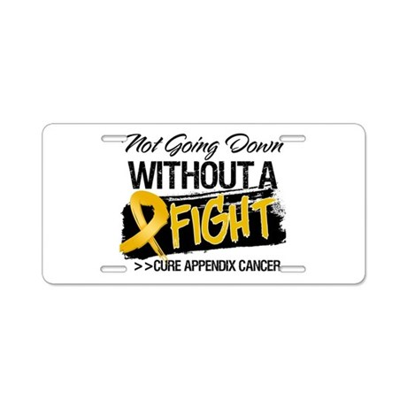 Appendix Cancer Fight Aluminum License Plate
