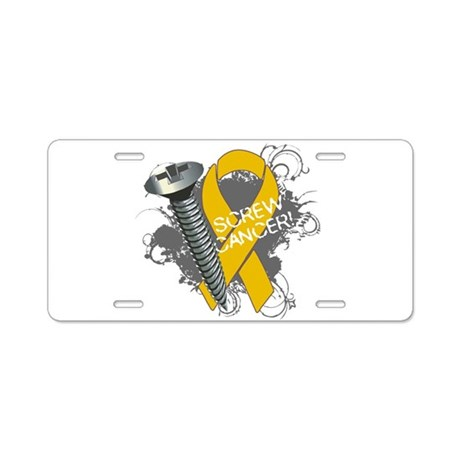 Screw Appendix Cancer Aluminum License Plate