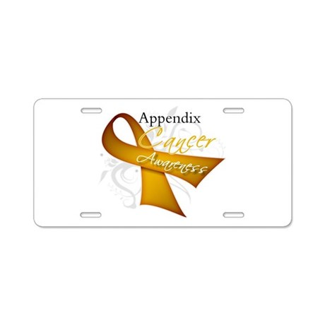 Awareness Appendix Cancer Aluminum License Plate