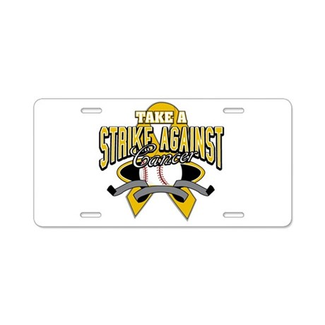 Take Strike Appendix Cancer Aluminum License Plate