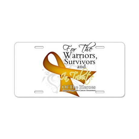 In Tribute Appendix Cancer Aluminum License Plate