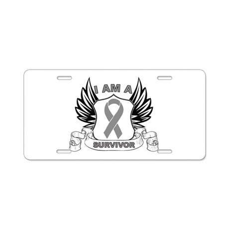 I'm a Brain Cancer Survivor Aluminum License Plate