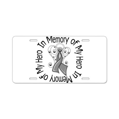 Brain Cancer In Memory Aluminum License Plate