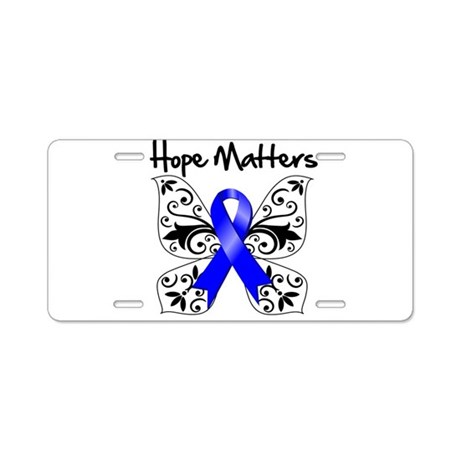 Hope Matters Colon Cancer Aluminum License Plate