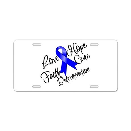 Love Hope Colon Cancer Aluminum License Plate