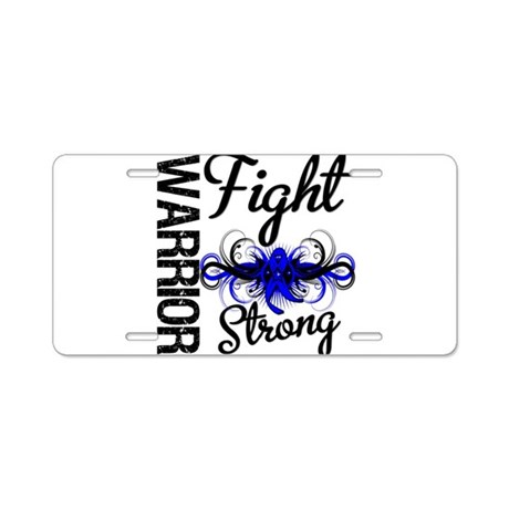 Warrior Colon Cancer Aluminum License Plate