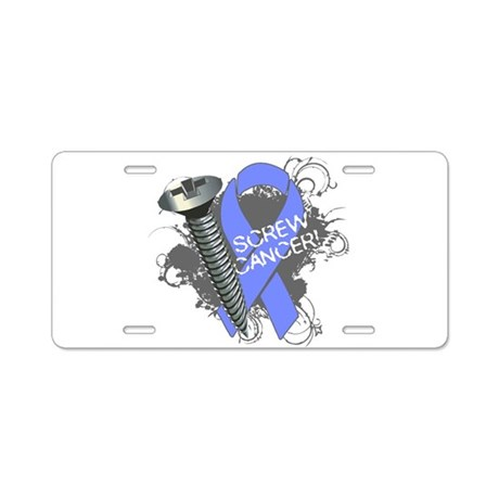 Screw Esophageal Cancer Aluminum License Plate