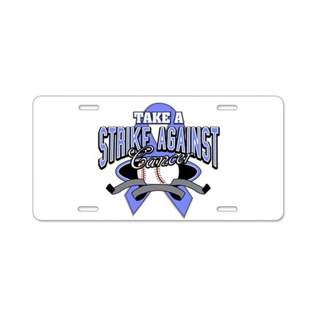 Take a Strike Esophageal Aluminum License Plate