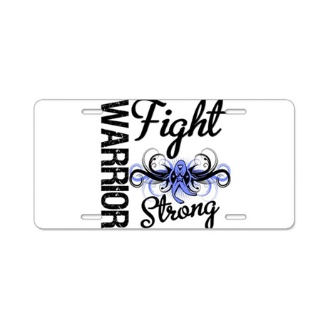 Warrior Esophageal Cancer Aluminum License Plate
