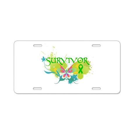 Butterfly Bile Duct Cancer Aluminum License Plate