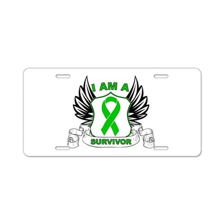 I am a Survivor Bile Duct Can Aluminum License Pla