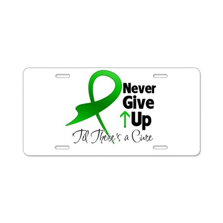 Bile Duct Never Give Up Aluminum License Plate