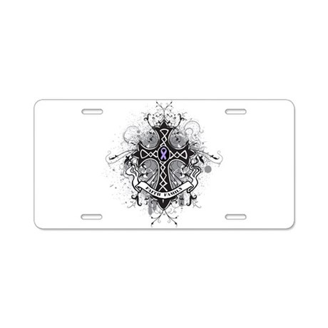 Cancer Prayer Cross Aluminum License Plate