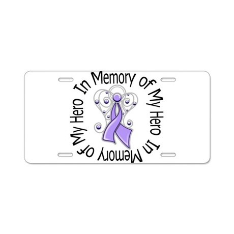 In Memory Angel - Cancer Aluminum License Plate