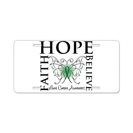 Faith Hope Liver Cancer Aluminum License Plate