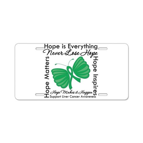 Hope is Everything Liver Canc Aluminum License Pla