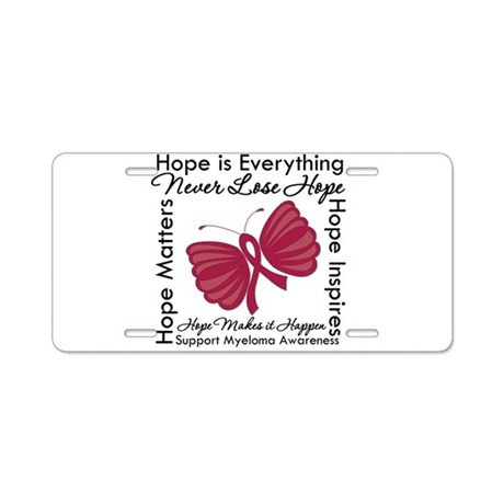 Hope is Everything Myeloma Aluminum License Plate