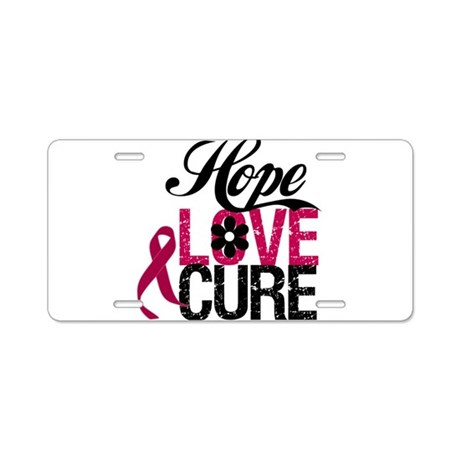 Hope Love Cure Myeloma Aluminum License Plate