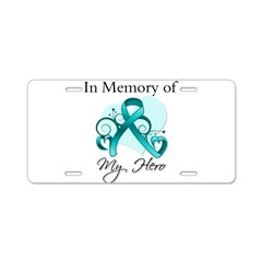 In Memory Hero Ovarian Cancer Aluminum License Pla