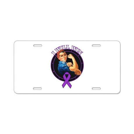 I Will Win Pancreatic Cancer Aluminum License Plat