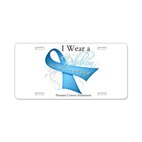 I Wear Ribbon Prostate Cancer Aluminum License Pla