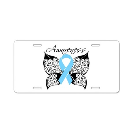 Butterfly Prostate Cancer Aluminum License Plate