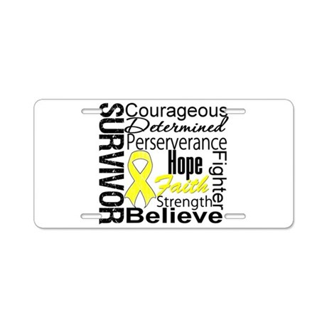 Sarcoma Survivor Collage Aluminum License Plate