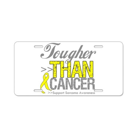 Tougher Than Cancer Aluminum License Plate