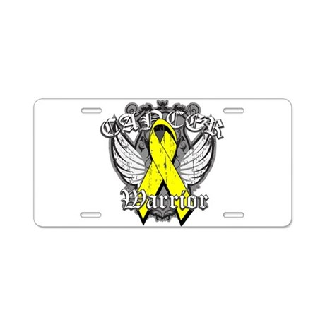 Sarcoma Cancer Warrior Aluminum License Plate