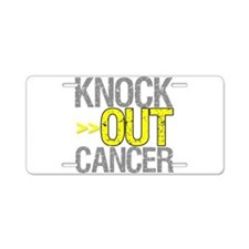 Knock Out Sarcoma Cancer Aluminum License Plate