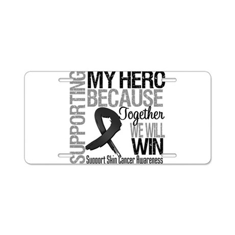 Supporting My Hero Aluminum License Plate