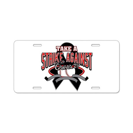 Take a Strike Skin Cancer Aluminum License Plate