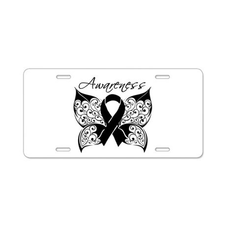 Skin Cancer Butterfly Aluminum License Plate