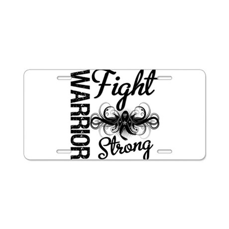 Warrior Skin Cancer Aluminum License Plate