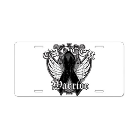 Skin Cancer Warrior Aluminum License Plate