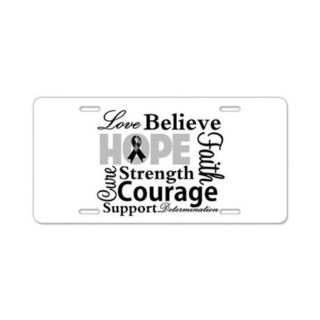 Skin Cancer Hope Collage Aluminum License Plate