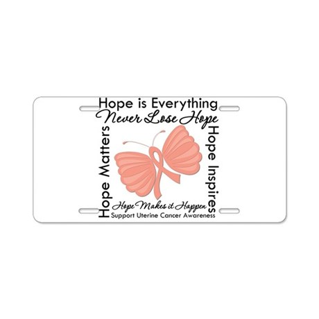 Hope - Uterine Cancer Aluminum License Plate