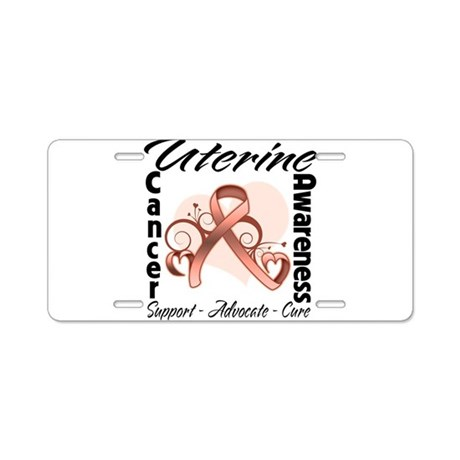Uterine Cancer Awareness Aluminum License Plate