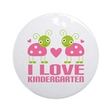 Cute Kindergarten Ornament (Round)