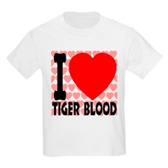 I Love Tiger Blood Kids Light T-Shirt
