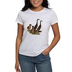 Chocolate Runner Duck Family Women's T-Shirt