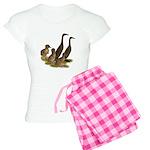 Chocolate Runner Duck Family Women's Light Pajamas