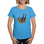 Chocolate Runner Duck Family Women's Dark T-Shirt