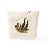 Chocolate Runner Duck Family Tote Bag