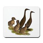 Chocolate Runner Duck Family Mousepad