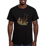 Chocolate Runner Duck Family Men's Fitted T-Shirt