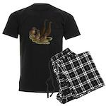 Chocolate Runner Duck Family Men's Dark Pajamas