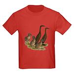 Chocolate Runner Duck Family Kids Dark T-Shirt
